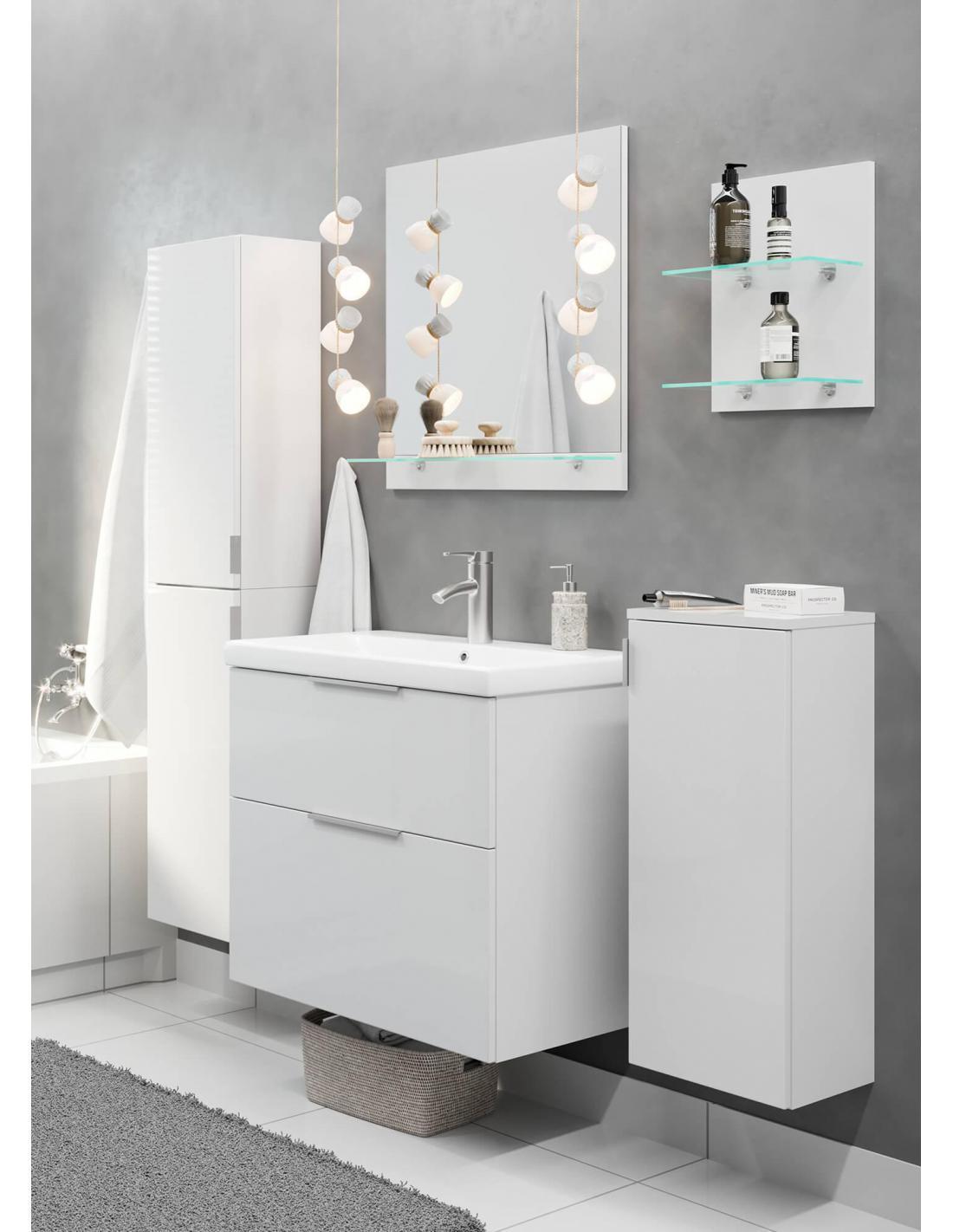 zestaw szafek łazienkowych z lustrem