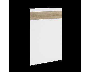 Front z możliwością zastosowania jako panel zewnętrzny do zmywarki. 70,9 cm x 44,6 cm (panel ukryty).