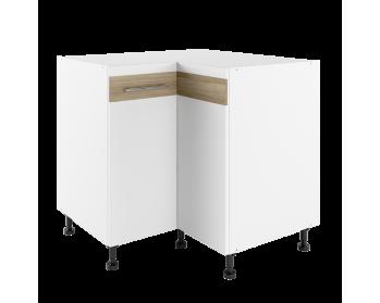 Szafka narożna 90 CM stojąca z frontami pełnymi. 85 cm x 85 cm (po blacie 90 cm x 90 cm).