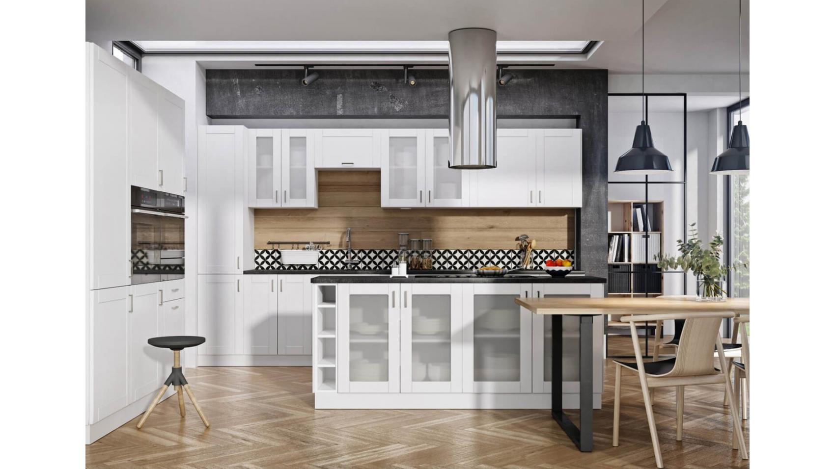 Milano Bianco - nowoczesne, białe szafki kuchenne | sklep internetowy Lupus ECO