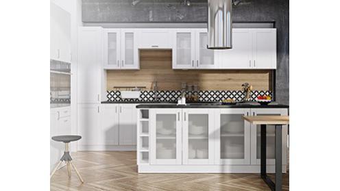 Milano Bianco - nowoczesne, białe szafki kuchenne