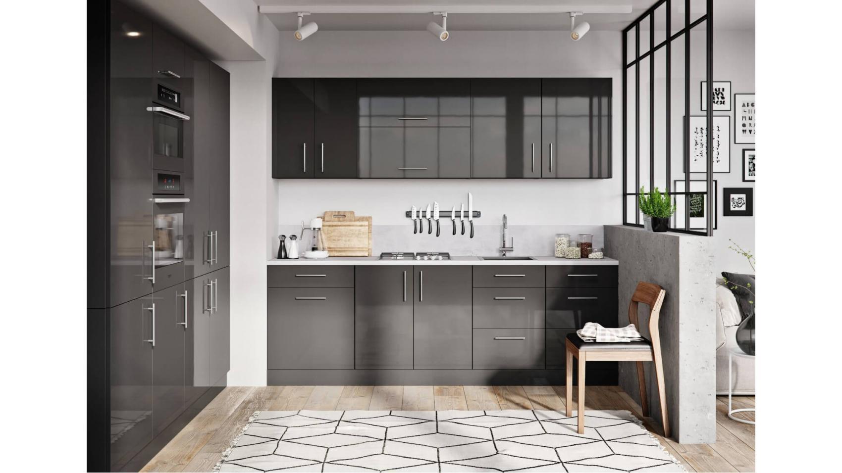 Luna graphite - grafitowe szafki kuchenne | sklep internetowy Lupus ECO