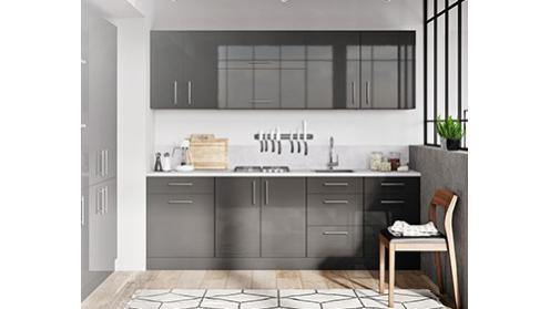 Luna graphite - grafitowe szafki kuchenne