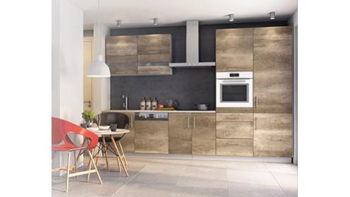 Luna Canyon - meble kuchenne z wzorem drewna