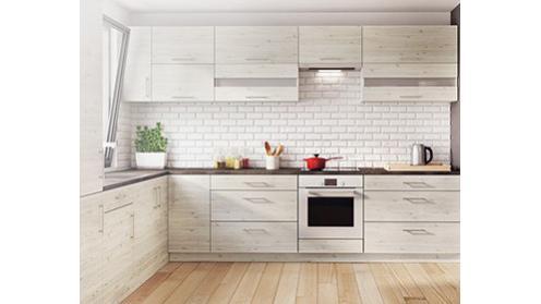 Luna Cortona - szafki kuchenne z wzorem dębu