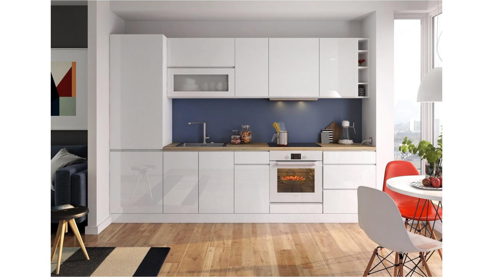 Vegas White - minimalistyczne i nowoczesne meble kuchenne